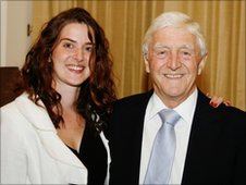 Lucy Jones and Michael Parkinson