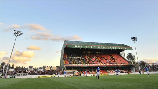 Oval stadium in east Belfast