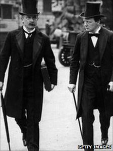 Winston Churchill and David Lloyd Geroge