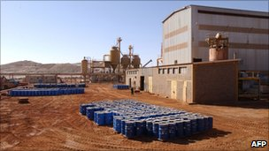 Areva facility at the Arlit uranium mine (file)