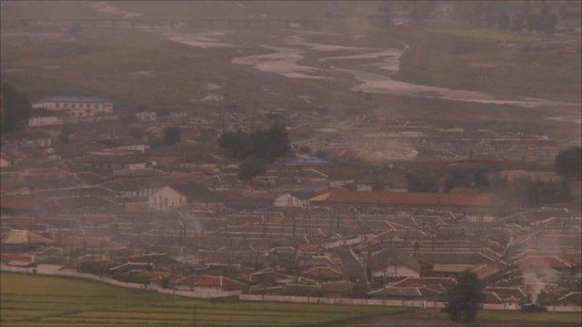 North Korean town