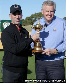 Corey Pavin and Colin Montgomerie