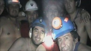 Trapped miners in Copiapo (17 September 2010)