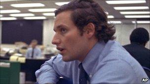 Bob Woodward, Washington Post newsroom (1973)