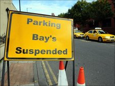 The offending temporary road sign in Hartlepool