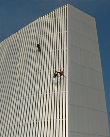 Climbers on Imperial War Museum North
