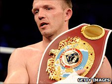 Juergen Braehmer with the WBO light-heavyweight belt that Nathan Cleverly covets
