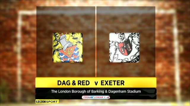 Highlights - Dag & Red 1-1 Exeter