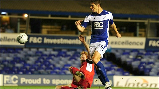 Nikola Zigic  scores for Birmingham