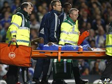 Salomon Kalou stretchered off