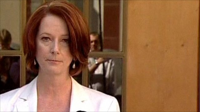 The Australian Prime Minister Julia Gillard