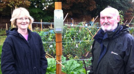 Anna and John Stack on the allotments in Pitstone