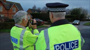 Residents are trained how to use speed guns