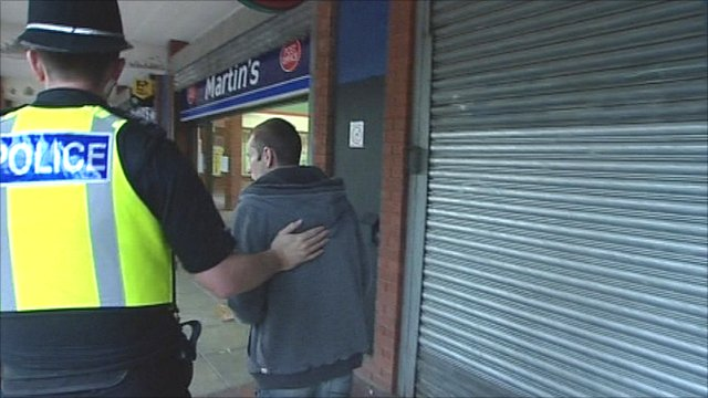Policeman moves teenager on