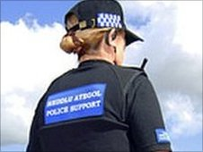 Baseball cap worn by Police Support Community Officer (generic)