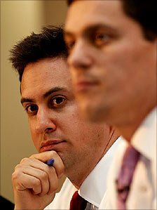 Ed Miliband beat older brother David, right, to the Labour leadership