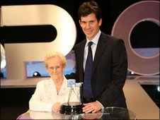 Margaret Simons with Tim Henman