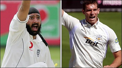 Monty Panesar and Chris Tremlett