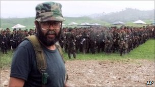 The Farc&#039;s current leader - in file photo from 28 April 2000