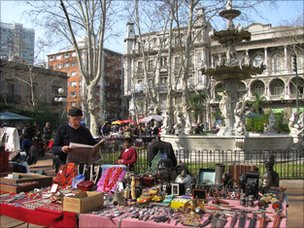 Flea market in Montevideo's Old City