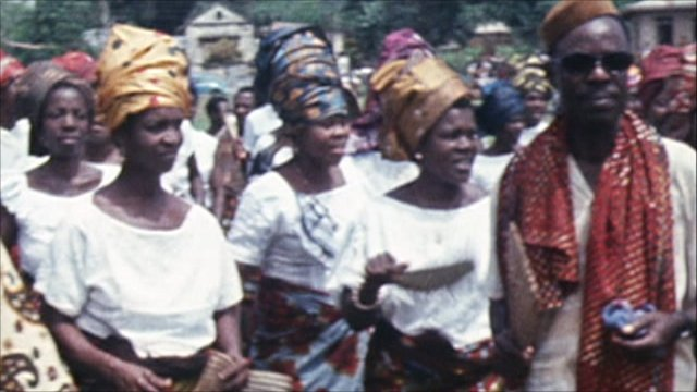 Dancers in the former Biafra in 1970