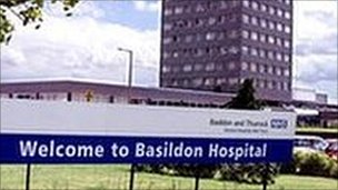 Basildon hospital in Essex