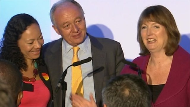 Oona King, Ken Livingstone and Harriet Harman