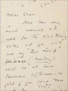 Letter written by Oscar Wilde
