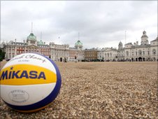 Volleyball will be played at Horse Guards Parade.