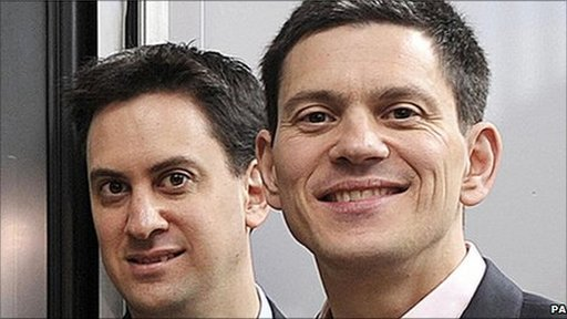 David Miliband (right) and Ed Miliband
