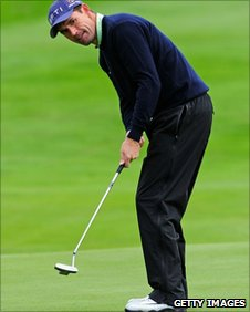 Padraig Harrington in thrid-round action
