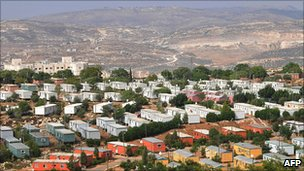 View of the Jewish settlement of Ariel, in the West Bank