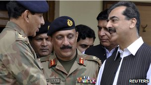 Pakistan Prime Minister Yousuf Raza Gilani meeting army chief Gen Ashfaq Kayani, 12 Sept 2010