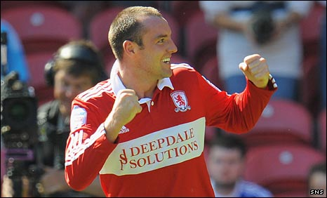 Middlesbrough striker Kris Boyd
