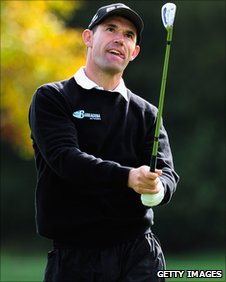 Padraig Harrington in final round action