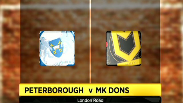 Peterborough 2-1 MK Dons