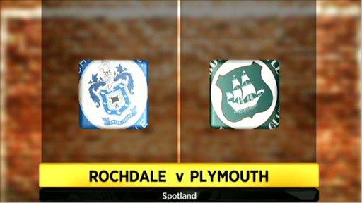 Rochdale 1-1 Plymouth