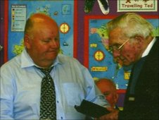Peter Gulliver presenting the watch to Douglas Andrews in 2006