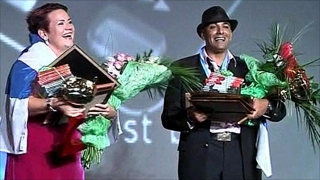 Karaoke winners in Russia