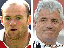 Wayne Rooney and Kevin Keegan