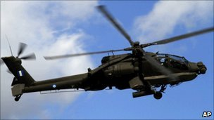 Apache helicopter (File photo)