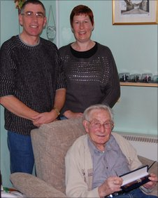 Colin and his sister Anne Marie with their father Douglas Andrews