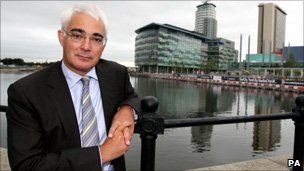 Alistair Darling in Salford