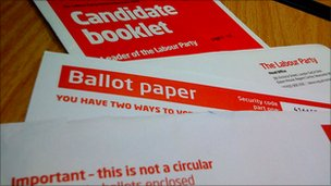 Labour leadership ballot papers