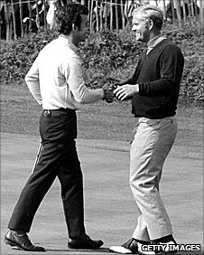 Tony Jacklin and Jack Nicklaus