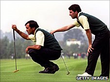 Seve Ballesteros and Jose Maria Olazabal
