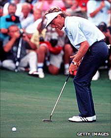 Bernhard Langer at Kiawah Island in 1991