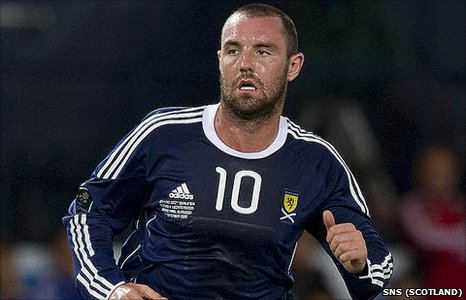 Kris Boyd in action for Scotland