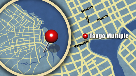 Map showing location of Tango Multiple