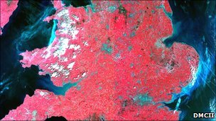 Britain pictured by the UK DMC satellite (DMCii)